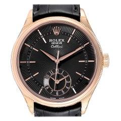 Rolex Cellini Dual Time Everose Rose Gold Men's Watch 50525 Unworn