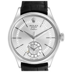 Rolex Cellini Dual Time White Gold Automatic Men's Watch 50529 Box Card