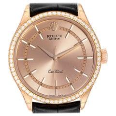 Rolex Cellini Everose Gold Automatic Diamond Men's Watch 50705 Unworn