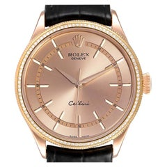 Rolex Cellini Everose Gold Diamond Automatic Mens Watch 50705
