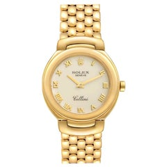 Rolex Cellini Ivory Roman Dial Yellow Gold Ladies Watch 6621