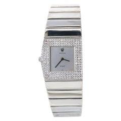 Rolex Cellini King Midas 4609 Rare 18K White Gold Factory Diamond Manual