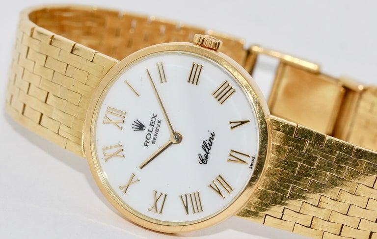 Rolex Cellini Ladies Wrist Watch, 18 Karat Gold, Manual Winding In Good Condition For Sale In Berlin, DE