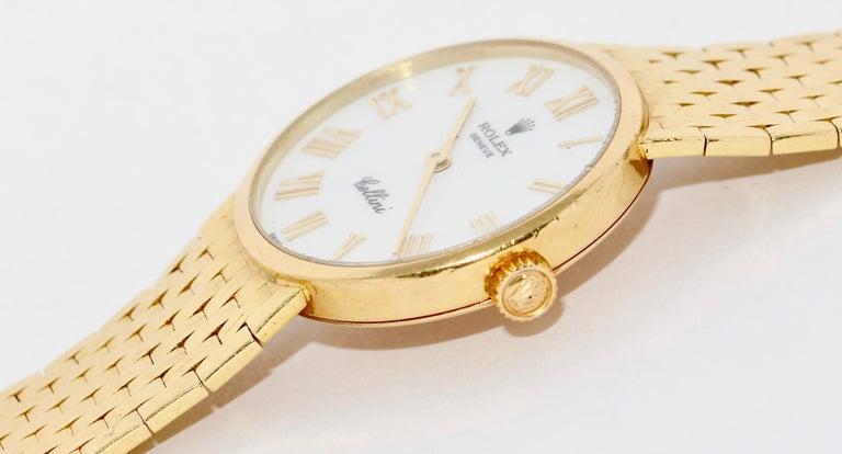 Rolex Cellini Ladies Wrist Watch, 18 Karat Gold, Manual Winding For Sale 1