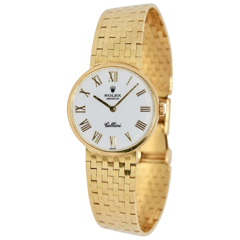 Rolex Cellini Ladies Wrist Watch, 18 Karat Gold, Manual Winding For Sale
