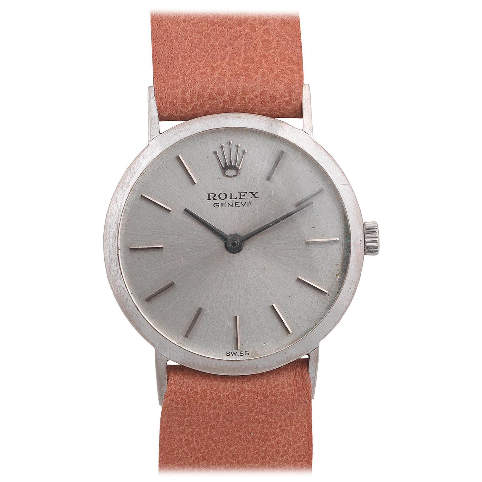 Rolex Cellini Ladies 18 Karat White Gold Manual Wind Wristwatch