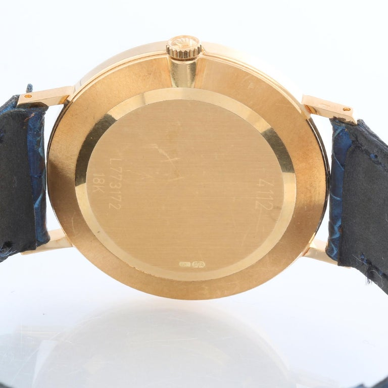 Rolex Cellini Men's 18k Yellow Gold Watch on Strap Band Mod. 4112 1
