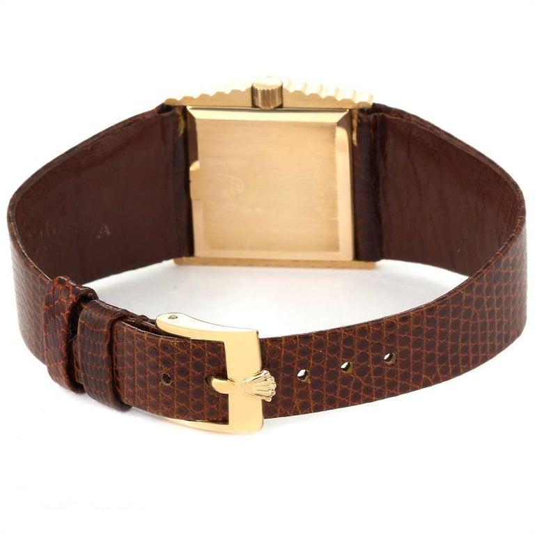Rolex Cellini Midas Yellow Gold Orange Mirror Dial Vintage Watch 4017 4