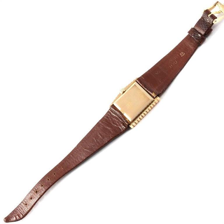 Rolex Cellini Midas Yellow Gold Orange Mirror Dial Vintage Watch 4017 5