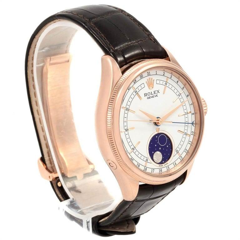 Men's Rolex Cellini Moonphase Everose Rose Gold Automatic Men's Watch 50535 For Sale