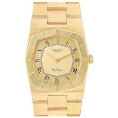 Rolex Cellini Octagonal 18 Karat Yellow Gold Ladies Watch 4360