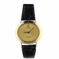 Rolex Cellini Orchid 18 Karat Yellow Gold Manual Champagne Dial Watch 4081 1980s