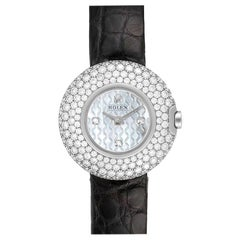 Rolex Cellini Orchid White Gold Diamond Ladies Watch 6201