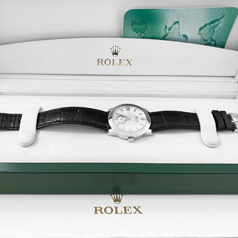 Rolex Cellini Platinum Men's Watch 5240 Mother of Pearl Dial For Sale 6