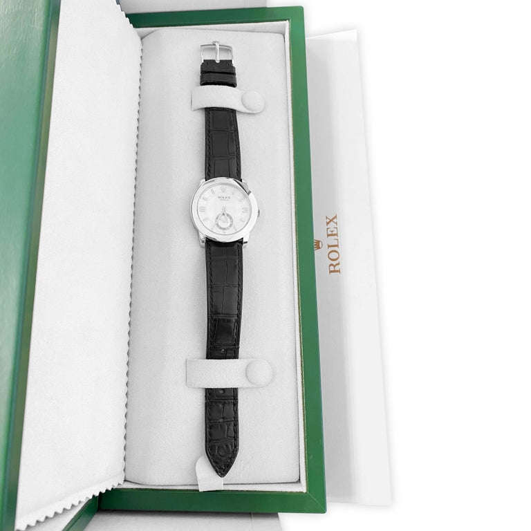 Rolex Cellini Platinum Men's Watch 5240 Mother of Pearl Dial For Sale 5