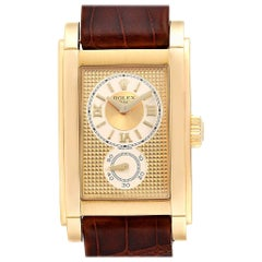 Rolex Cellini Prince Yellow Gold Champagne Dial Men's Watch 5440 Box