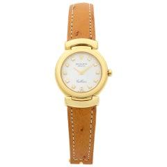 Rolex Cellini White Diamond Dial 18 Karat Yellow Gold Quartz Ladies Watch 6221
