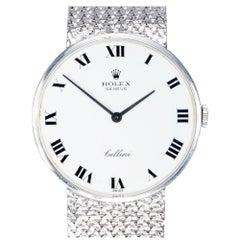 Rolex Cellini White Gold White Dial Wristwatch
