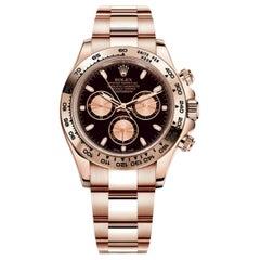Rolex Cosmograph Daytona 18 Karat Gold Black and Pink Dial Men's Watch 116505