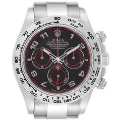 Rolex Cosmograph Daytona 18 Karat White Gold Black Dial Men's Watch 116509