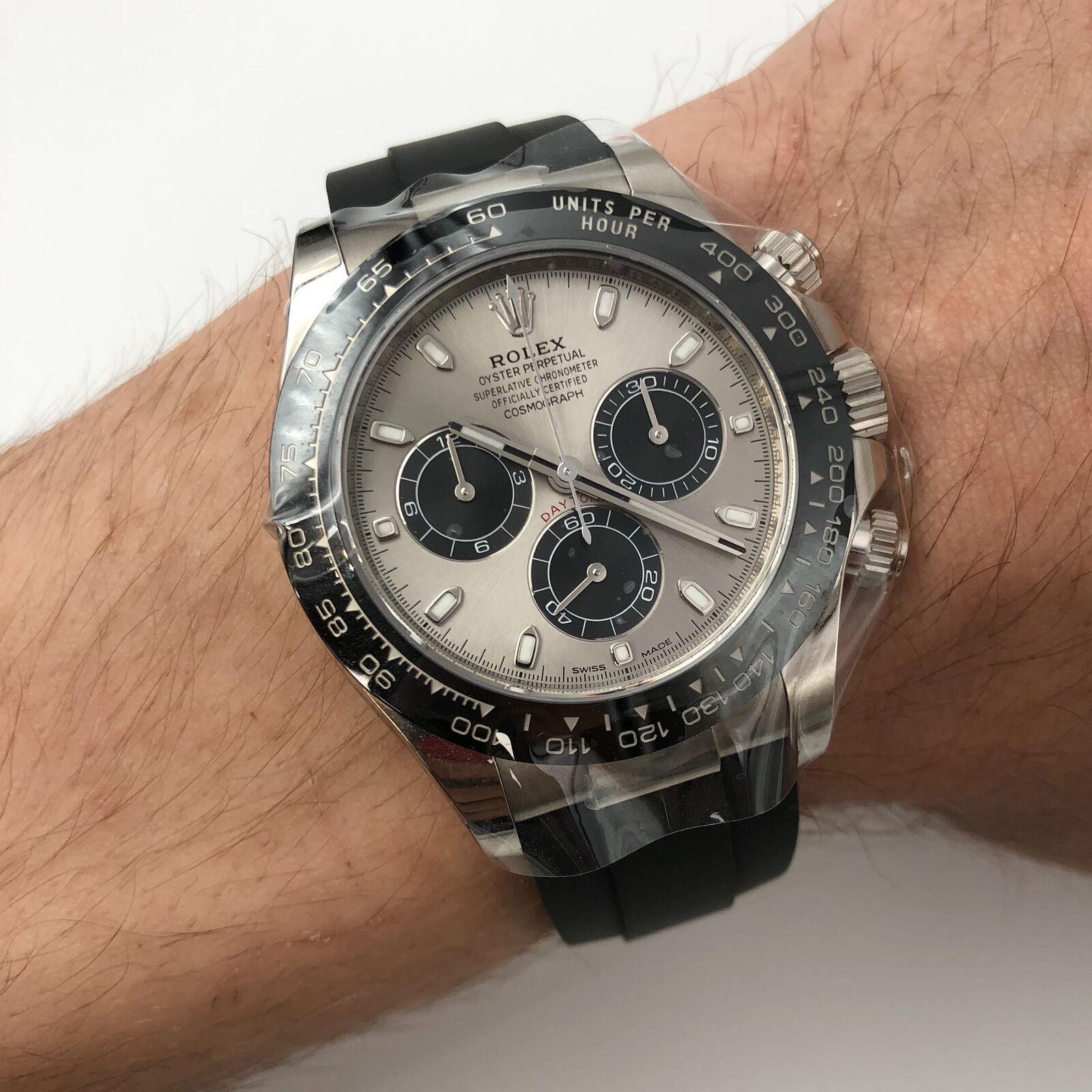 Rolex Cosmograph Daytona 18 Karat Gold Ceramic Steel Dial Men\u0027s Watch  116519LN