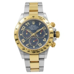 Rolex Cosmograph Daytona 18K Yellow Gold Blue Racing Dial Mens Watch 116523