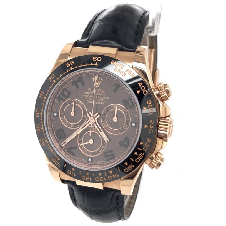 The Oyster Perpetual Cosmograph Daytona is resolutely dedicated to those who enjoy the finer things in life. The typical owner of this Rolex chronograph, designed with speed and performance in mind, is among those who avidly take advantage of all