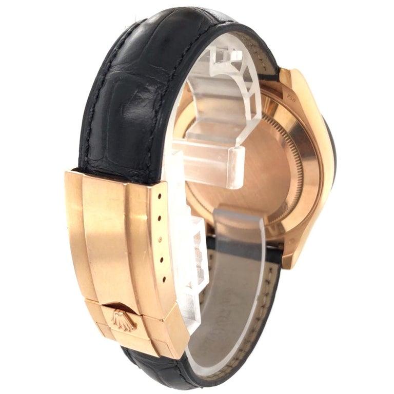 Rolex Cosmograph Daytona 18kt Everose Gold Ceramic Chronograph Croc Strap For Sale 3