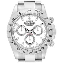 Rolex Cosmograph Daytona 40 White Dial Chrono Steel Men's Watch 116520