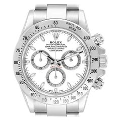 Rolex Cosmograph Daytona 40 White Dial Chrono Steel Men's Watch 116520