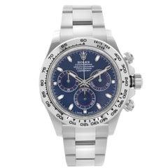 Rolex Cosmograph Daytona 18K White Gold Blue Dial Mens Watch 116509BLSO