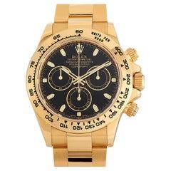 Rolex Cosmograph Daytona Black Dial Watch 116508