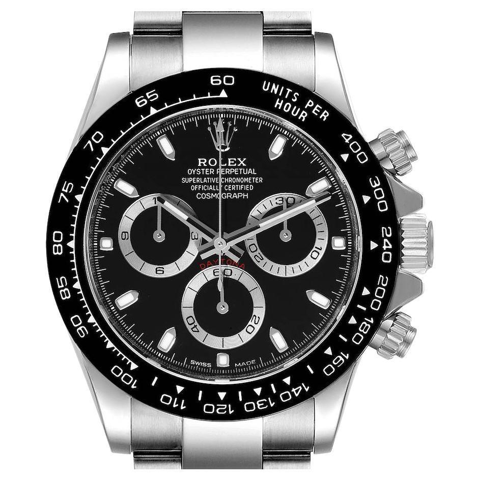Rolex Cosmograph Daytona Ceramic Bezel Black Dial Mens Watch 116500 Unworn