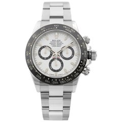 Rolex Cosmograph Daytona Ceramic Steel White Dial Automatic Men's Watch 116500LN