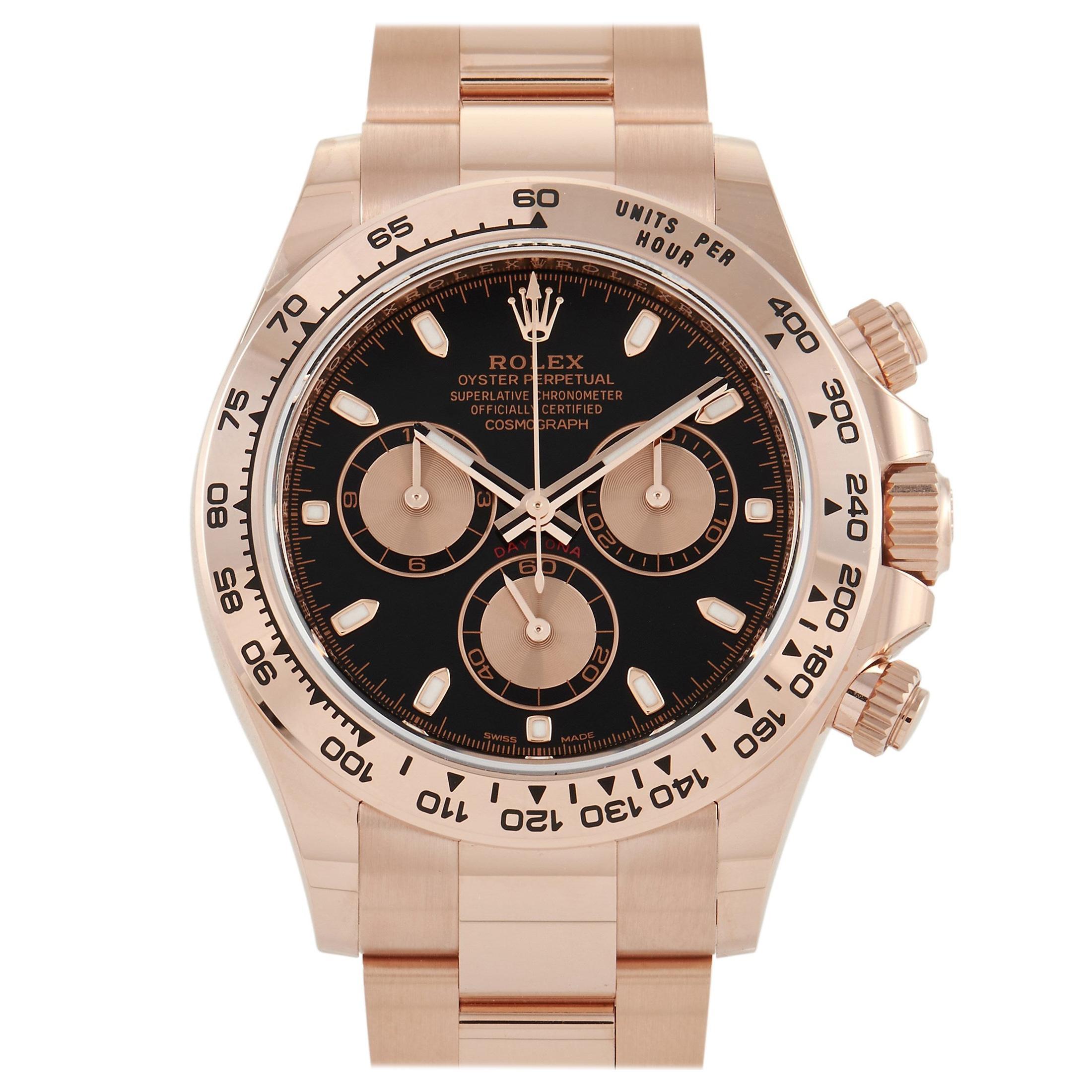 Rolex Cosmograph Daytona Everose Gold Chronograph Watch 116505