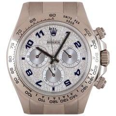Rolex Cosmograph Daytona Gents 18 Karat White Gold Pave Diamond Dial B&P 116509