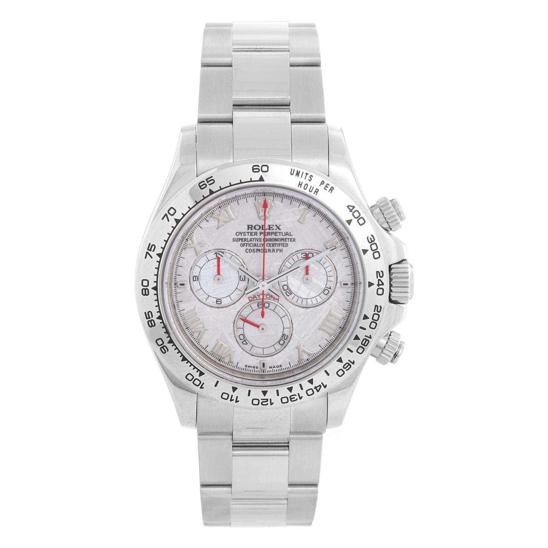 Rolex Cosmograph Daytona Men's 18k White Gold Watch 116509