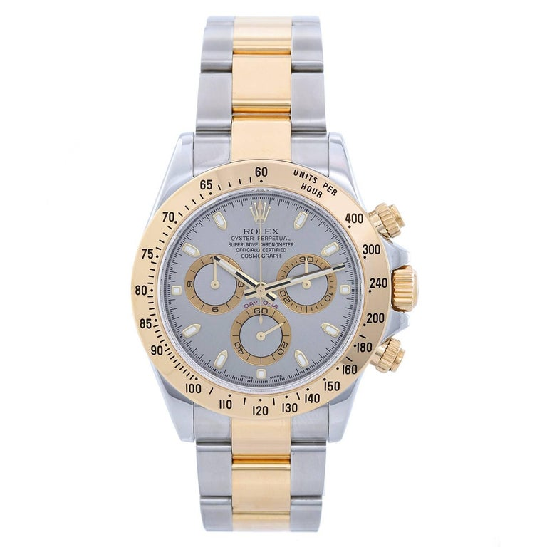 Rolex Yellow Gold Stainless Steel Cosmograph Daytona Automatic Wristwatch