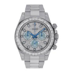 Rolex Cosmograph Daytona Platinum Diamond Index Dial Watch 116576TBR