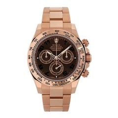 Rolex Cosmograph Daytona Rose Gold Chocolate Arabic Dial Watch 116505
