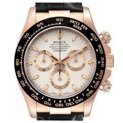 Rolex Cosmograph Daytona Rose Gold Everose Mens Watch 116515