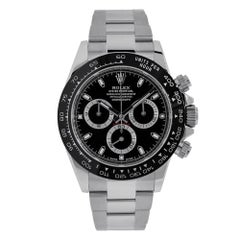 Rolex Cosmograph Daytona Stainless-Steel Black Ceramic Dial 40MM Watch 116500LN