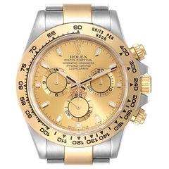 Rolex Cosmograph Daytona Steel Yellow Gold Men's Watch 116503 Box Card