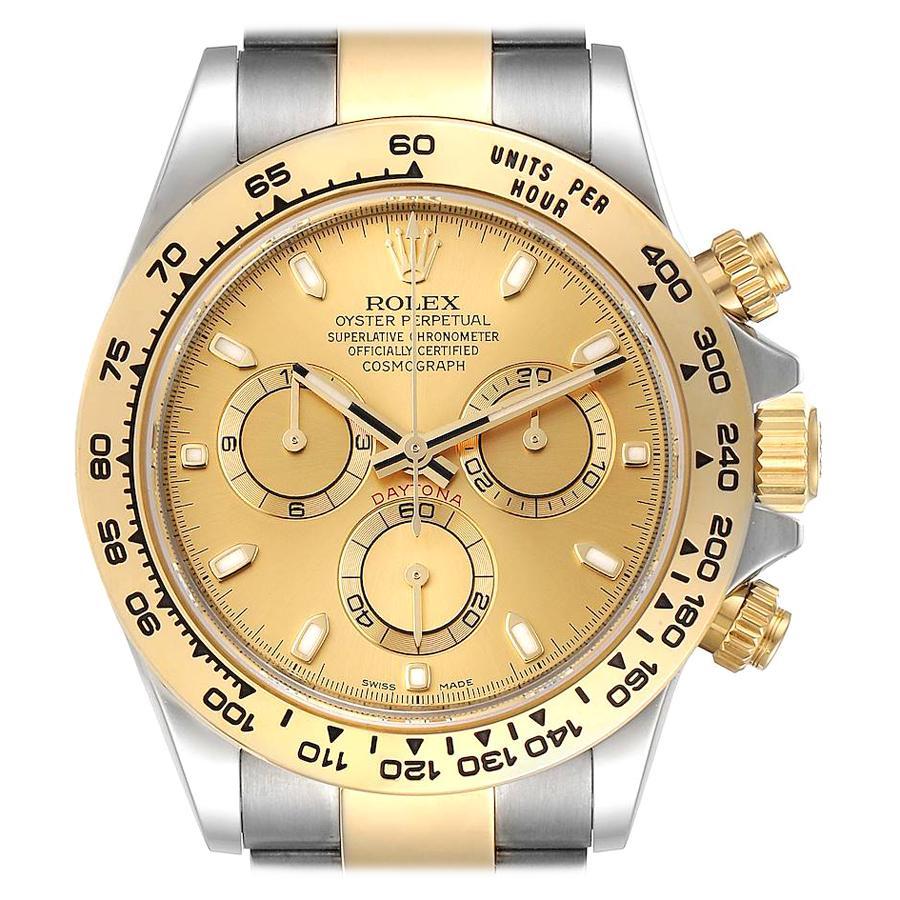 Rolex Cosmograph Daytona Steel Yellow Gold Mens Watch 116503 Unworn