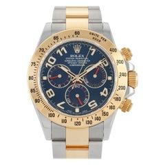 Rolex Cosmograph Daytona Two-Tone Blue Dial Watch 116523