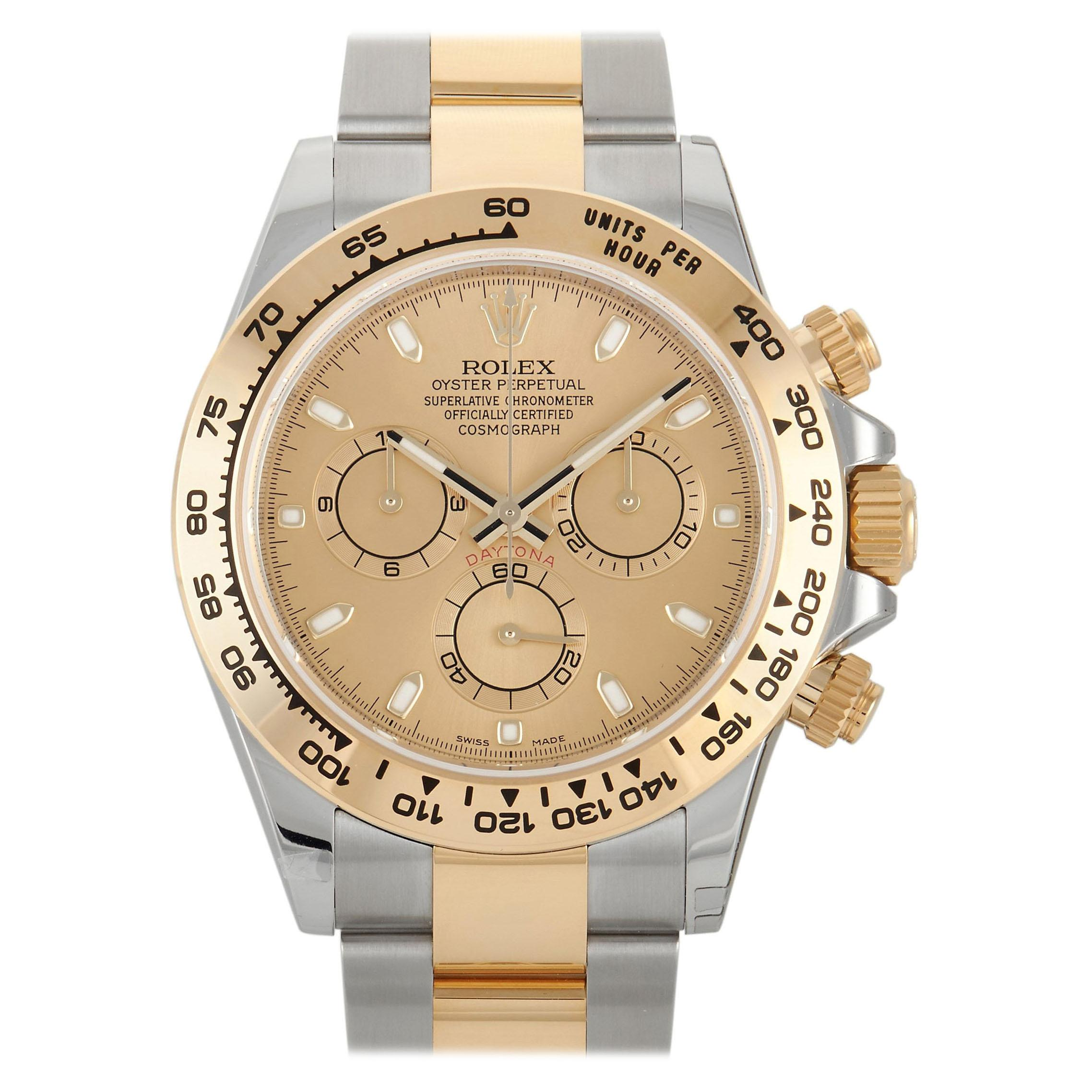 Rolex Cosmograph Daytona Two-Tone Champagne Dial Watch 116503-0003