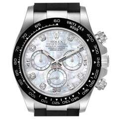 Rolex Cosmograph Daytona White Gold MOP Diamond Dial Men's Watch 116519