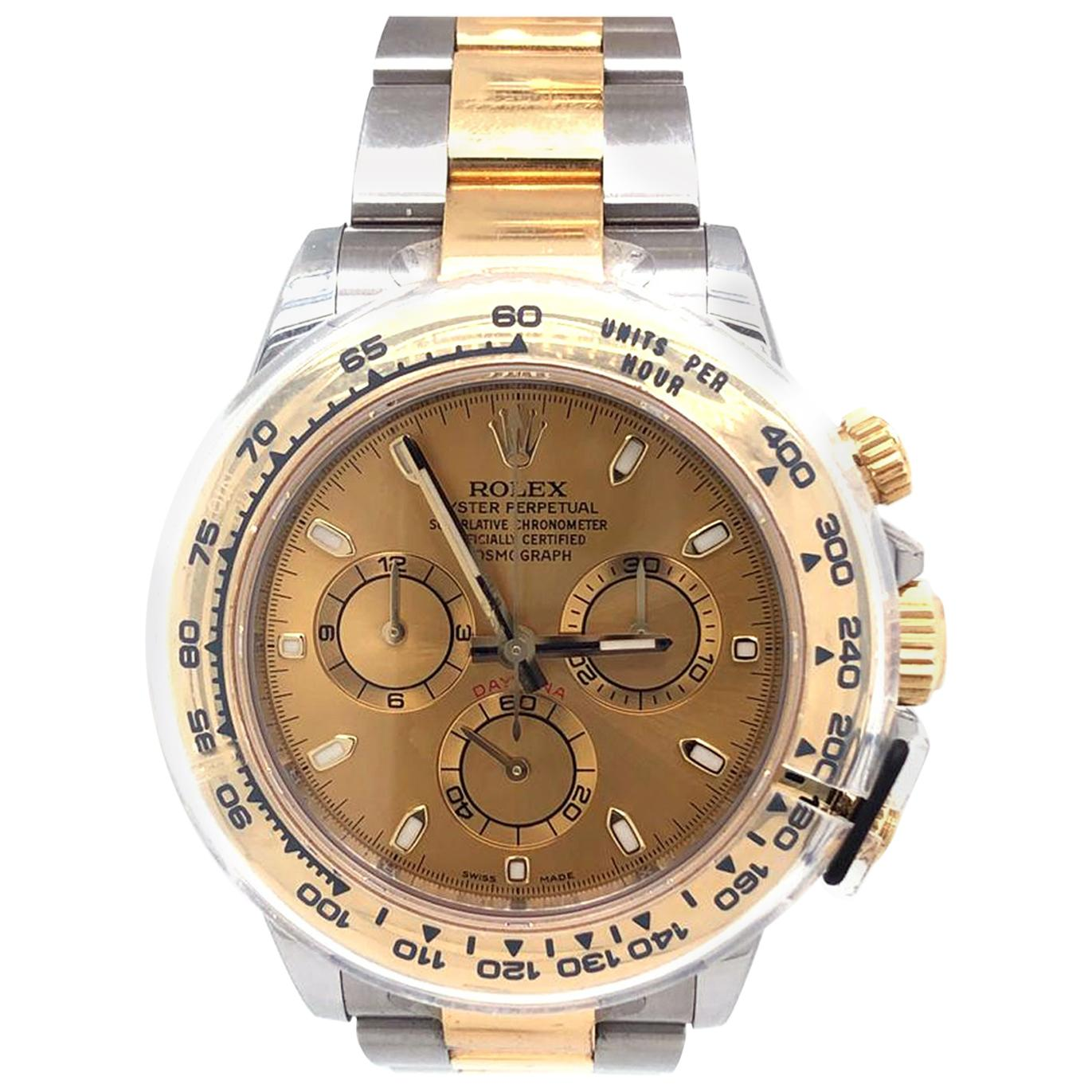Rolex Cosmograph Daytona Yellow Gold Automatic Champagne Dial Men's Watch 116503