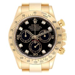 Rolex Cosmograph Daytona Yellow Gold Black Dial Men's Watch 116528