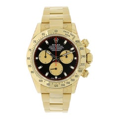 Rolex Cosmograph Daytona Yellow Gold Paul Newman Black Dial Watch 116528